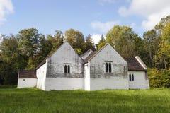 Kyrka för ` s för St Teilo, St Fagans, Wales Arkivbilder