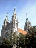 Kyrka för Saint Paul ` s i Munich Arkivfoto
