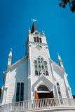 Kyrka för Sainte Anne ` s på den Mackinac ön Royaltyfria Foton