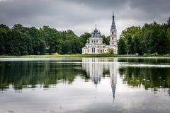 Kyrka för St Alexander Nevsky i Stameriena, Lettland Fotografering för Bildbyråer