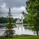 Kyrka för St Alexander Nevsky i Stameriena, Lettland Arkivfoton