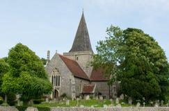 Kyrka för St Andrew ` s, Alfriston, Sussex, England royaltyfria foton