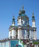 Kyrka för St. Andreys i Kiev, Ukraina Arkivfoton