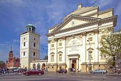 Kyrka för St Anne ` s i Warszawa Royaltyfri Bild