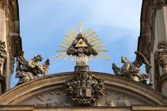 Kyrka för St Annes i Budapest arkitektoniska detaljer Arkivfoton