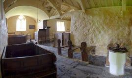 Kyrka för St Baglans, Llanfaglan royaltyfri foto