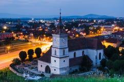 Kyrka för St Bartholomew, Brasov Arkivfoto