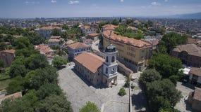Kyrka för St Bogoroditsa, Plovdiv, Bulgarien, 23 Oktober 2018 arkivbilder
