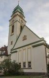 Kyrka för St Bonifatius i Werdau, Tyskland, 2015 arkivfoton