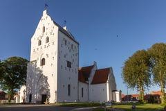 Kyrka för St Catharinæ, Hjørring, Danmark från södra västra Royaltyfri Bild