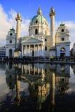 Kyrka för St Charles ` s i Wien, Österrike Fotografering för Bildbyråer