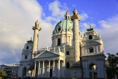Kyrka för St Charles ` s i Wien, Österrike Arkivbilder