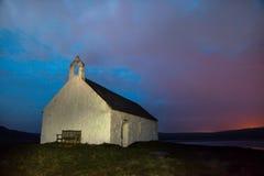 Kyrka för St Cywfans Arkivbild