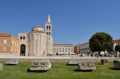 Kyrka för St Donatus i Zadar Arkivbild