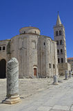 Kyrka för St Donatus i Zadar Arkivfoto