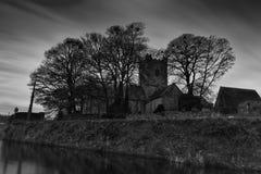 Kyrka för St Flannans av Irland Killaloe i B&W Royaltyfri Bild