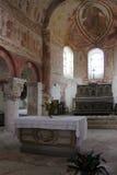 Kyrka för St Genest - Lavardin - Frankrike Arkivfoto