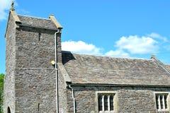 kyrka för st Illtyds i Brynithel i Wales, UK Royaltyfria Foton