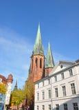 Kyrka för St Lamberti i Oldenburg, Tyskland arkivfoto