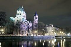 Kyrka för St. Lukas, Munich, Tyskland royaltyfria foton