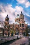 Kyrka för St Lukes i Munich royaltyfri fotografi
