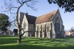 Kyrka för St Marys, Chartham, Kent royaltyfria bilder