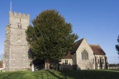 Kyrka för St Marys, Chartham, Kent royaltyfri foto
