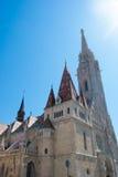 Kyrka för St Matthias i Budapest, Ungern Arkivbild