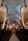 Kyrka för St Michael ` s, Cornhill Den historiska kyrkan i staden av London planlade vid gärdsmygen och Hawksmoor, med dengotiska Arkivbilder