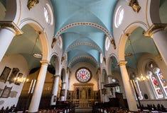 Kyrka för St Michael ` s, gränd för St Michael ` s, Cornhill London Den historiska kyrkan planlade vid gärdsmygen och Hawksmoor,  Royaltyfria Foton