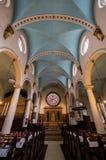 Kyrka för St Michael ` s, gränd för St Michael ` s, Cornhill London Den historiska kyrkan planlade vid gärdsmygen och Hawksmoor,  Arkivfoton