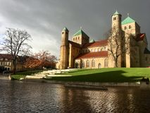 Kyrka för St Michael ` s i Hildesheim, Tyskland Arkivbilder