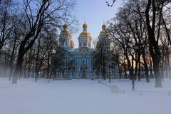 Kyrka för St. nicholas, St-Petersburg Arkivfoton