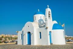 Kyrka för St Nicolas i Protaras, Cypern Fotografering för Bildbyråer