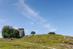 Kyrka för St. Olavs på Avaldsnes, Norge Royaltyfri Foto