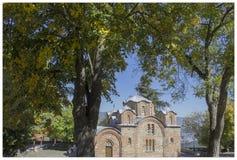 Kyrka för St Panteleymon i Skopje, Makedonien arkivbild