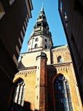 Kyrka för St. Peter´s i Lettland Arkivfoto