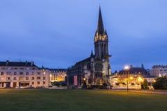 Kyrka för St Peter ` s i Caen arkivbilder
