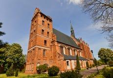 Kyrka för St Stanislaus (1521) i den Swiecie staden, Polen Royaltyfria Foton