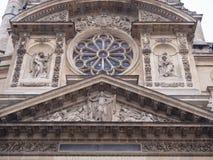Kyrka för St Stephen ` s av monteringen i franskt: église helgon-Etie fotografering för bildbyråer