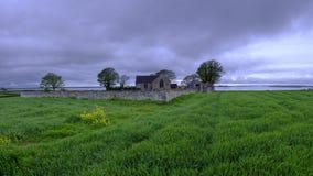 Kyrka f?r St Baglans, Llanfaglan royaltyfri fotografi