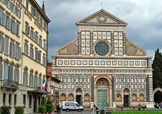 Kyrka för St Croce, Florence, Italien Arkivbilder