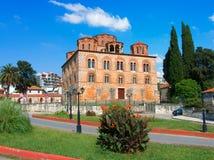 Kyrka Grekland för parigoritria för Arta stadspanagia byzantine arkivbilder