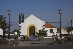 Kyrka i öar för Lajares Fuerteventura Las Palmaskanariefågel Spanien Royaltyfri Fotografi