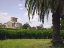 Kyrka i Abchazien Arkivfoton
