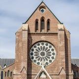 Kyrka i Alkmaar, Nederländerna royaltyfria foton