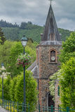 Kyrka i Ardennesen i Belgien Royaltyfria Foton