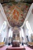 Kyrka i Aschaffenburg, Tyskland Arkivfoto