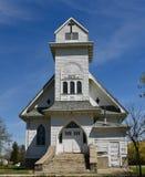 Kyrka i Balfour, North Dakota royaltyfri fotografi