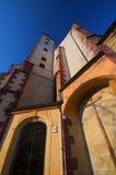 Kyrka i Banska Bystrica Arkivfoton